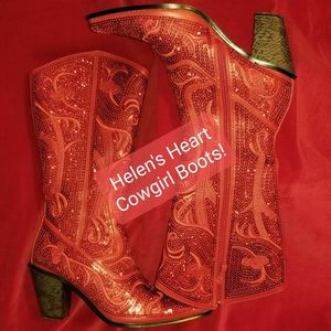 HELEN'S HEART Red Sparklin' Cowgirl Boots